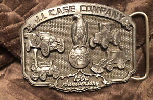 J I Case 150th Anniversary 1992 Abe Eagle Globe Logo Tractor Backhoe Belt Buckle