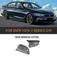 2xCarbon Außen Spiegelkappen Gehäuse Hülle Mirror Cover für BMW G30 G38 G11 G12