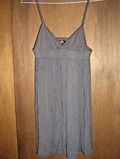 EUC FOREVER 21  womens sz MEDIUM M gray rayon stretch summer dress sundress