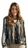 NEW LADIES WOMANS SEXY ANIMAL PRINT LOOSE FIT EVENING PARTY TOP BLOUSE SIZE 8-26