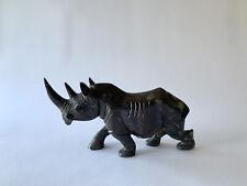 Zimbabwe, Shona, Cobalt Stone, Sculpture, Rhino, Africa, African, Art, Animal