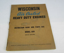 Wisconsin Air Cooled Heavy Duty Engines Model Aen Issue Mm-254 Instruction Book