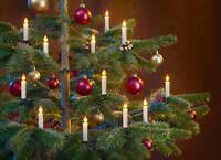 10 Flammeneffekt LED Weihnachtskerzen Baumkerze Kerze Tannenbaum Weihnachtsbaum