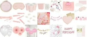 Pamper Party Accessories Tableware Decorations Sleepover Pink Heart Birthday Lot