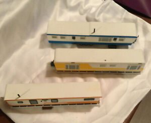VTG HO Scale Set Of Three Mobile Homes To Fit On Flat Rail Cars