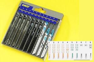 10x Stichsägeblatt Säge T Schaft für Metall Aluminium usw KINZO SCH