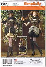 Steampunk Gothic Mini Dress Bustle Ruffles Costume Sewing Pattern 14 16 18 20 22