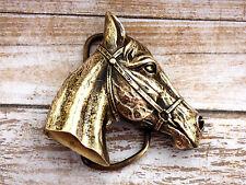 Horse Head Brass Vintage 1975 Bergamot Belt Buckle