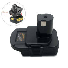 1xBattery Adapter For DEWALT Milwaukee Converter to RYOBI 18V CORDLESS PLUG TOOL