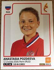 Womens Euro 2017 panini sticker - 168 Anastasia Pozdeeva (Russia)