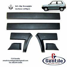 FIAT PANDA 86>03 4X4 1986>2003 KIT 6 PZ MODANATURE LATERALI CON CLIP FISSAGGIO
