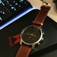 MVMT Watches Chrono ROSE GOLD Leather Men's Watch New In Box *Authentic