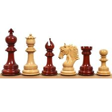 "4.6"" Arthur Luxury Staunton Chess Pieces Only set -Bud Rosewood- Triple Weighted"