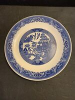 Vintage Blue Willow Chop Plate A Willow Ware Royal China 12.2""