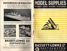 catalogo BASSETT-LOWKE 1947 Model Supplies Railways Ships Engines     E      aa