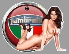 LAMBRETTA PIN UP  right Sticker droite