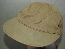 US Navy WW2 PBY CATALINA PILOT OD HBT FLIGHT BALL CAP 7 3/8 EXC Vtg Hat RARE