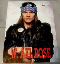 DOUBLE POSTER ANCIEN Guns 'n' Roses Slash Axel Duff Mc Kagan Stradlin 56x42cm
