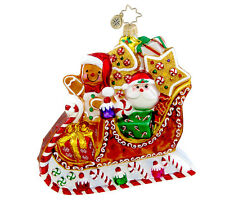 Christopher Radko - Sleightime Sweets - Candy Sleigh - Retired Ornament 1015430