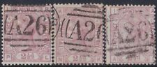 GB Used Abroad in GIBRALTAR A26  3 stamps. Excellent group!
