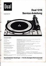 Tv, Video & Audio Service Manual-anleitung Für Dual 1008 A