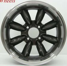 16X7 ROTA RB WHEELS 4X114.3 RIM +4MM ROYAL GUN METAL FITS CELICA 1976-1985