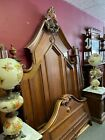 1860s Victorian Antique bed. Full size. Wood Walnut. New Jersey Manner
