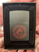 Dark Horse B.P.R.D Hellboy Zippo Lighter Bureau For Paranormal Research & Def Le