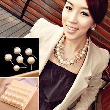 12 Paar Cruncher Designs Mode Weiß Pearl Earrings Neu Damen Ear Stud Beads