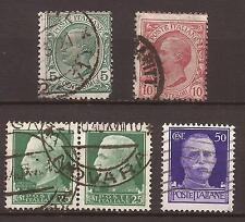 1906 SERIE LEONI + 1929 IMPERIALE c. 25 IN COPPIA § INTRAGNA 1°-10-1940 + c. 50