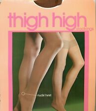 DARK Bronzage Overknee High Hold Up Stockings American Vintage Taille Unique