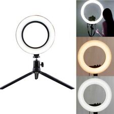 LED Ring Light Studio Photo Video Dimmable Lamp Tripod Selfie Camera Makeup Tool