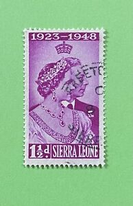 SIERRA LEONE *NICE* Silver Anniversary Of GEORGE & Queen Elizabeth 1948 USED