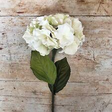 Blanco Antiguo/Crema Hortensias realista Artificial Flor De Seda Sintética Hortensia