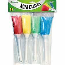 4 Mini Soft Magic Dusters Home Office Car Keyboard Feather Brush Dirt Cleaner.