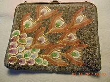 "Guy Laroche beaded gorgeous evening bag ,size 8"" by 6 1/2 """