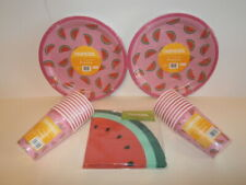 Tropicool Watermelon Party Tableware - 20 Paper Plates, Cups and Napkins