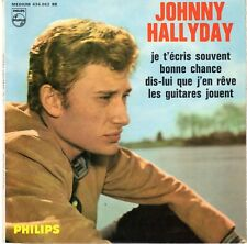 Johnny HALLYDAY (45 tours single 4 TITRES) JE T'ECRIS SOUVENT