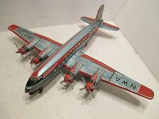 "Northwest Airlines Dc-7-C Friction With Turing Props Made In Japan 19"" Wingspan"