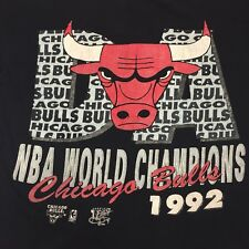 Vintage 1992 World Champions Chicago Bulls Basketball T-shirt NBA Jordan Dunk