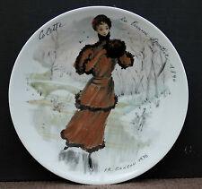 "Sammelteller von D Arceau Limoges "" Colette la Femme Sportive 1890 "" !!! Nr. 1"