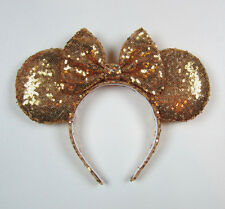 HANDMADE New Disney Minnie Mouse Bow Sequins Ear Headband