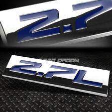 METAL GRILL TRUNK EMBLEM DECAL LOGO TRIM BADGE POLISHED CHROME BLUE 2.7L 2.7 L