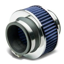"""Universal 2.5"""" Inch Turbo/Piping Kit/Cold Air Intake Bypass Valve Filter Blue"""