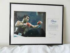 RARE A Studio Strictly Ltd Ed Signed Photographic Artwork  Muhammad Ali C of A.