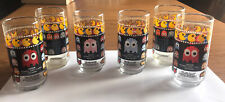 6 Vintage 1980's PAC-MAN / Pac Man Tumblers / Glasses - Inky Pinky Blinky RARE