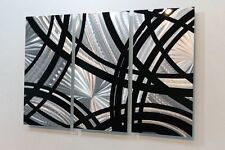 Statements2000 3D Metal Wall Art Modern Silver Black Accent Decor by Jon Allen