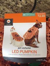 "Halloween pet Costume ""Pumpkin"" LED size Medium up to 50lbs Cat or Dog Brand New"