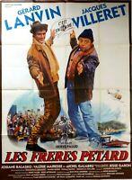 Plakat Kino Les Freres Pétard Gerard Lanvin Jacques Villeret - 120 X 160 CM
