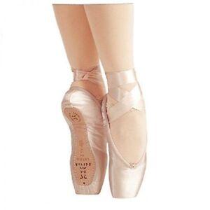"Sansha ""Lyrica"" Ballet Pointe Shoes, Toe, Full Shank, Peach Pink Girls Sizes"